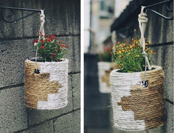 #diy #paint #can #planter #plants