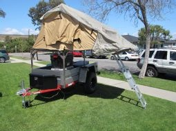 off-road trailer project and ARB rooftop tent