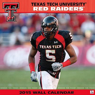 Texas Tech University Red Raiders 2015 Calendar. If you like College Sports, sports-calendars.com has many NCAA team calendars. College Football.