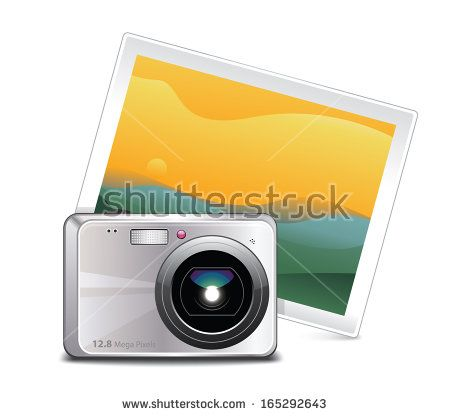 Compact Camera with Picture Icon