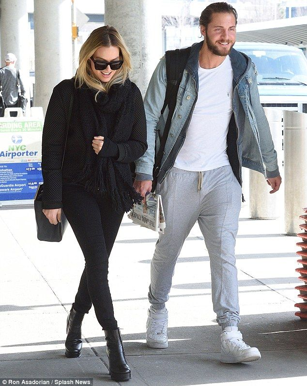 Margot Robbie with her boyfriend Tom Ackerley at the airport in NYC