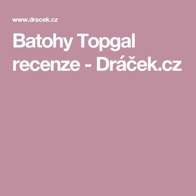 Batohy Topgal recenze - Dráček.cz
