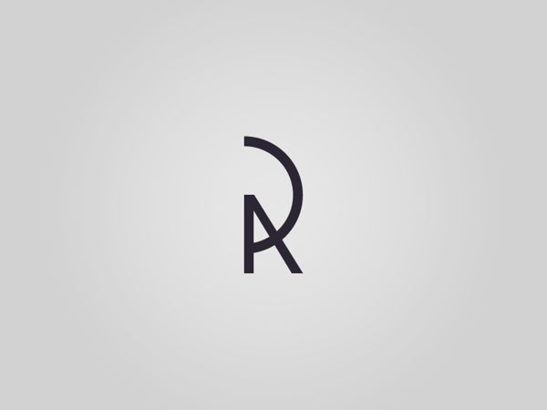 monogram personal logo by rodrigo puelles via behance
