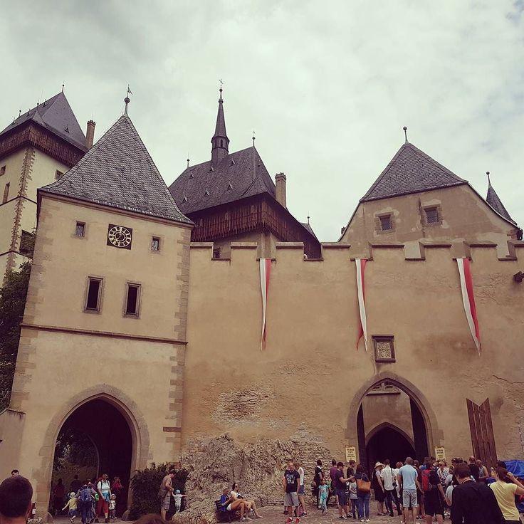 Karlstejn Castle about half an hour train ride outside Prague.