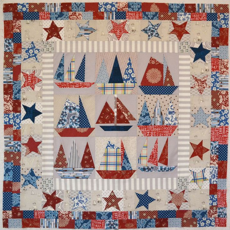 https://flic.kr/p/eNf6Wj | Sailboats quilt top finished | Blogged