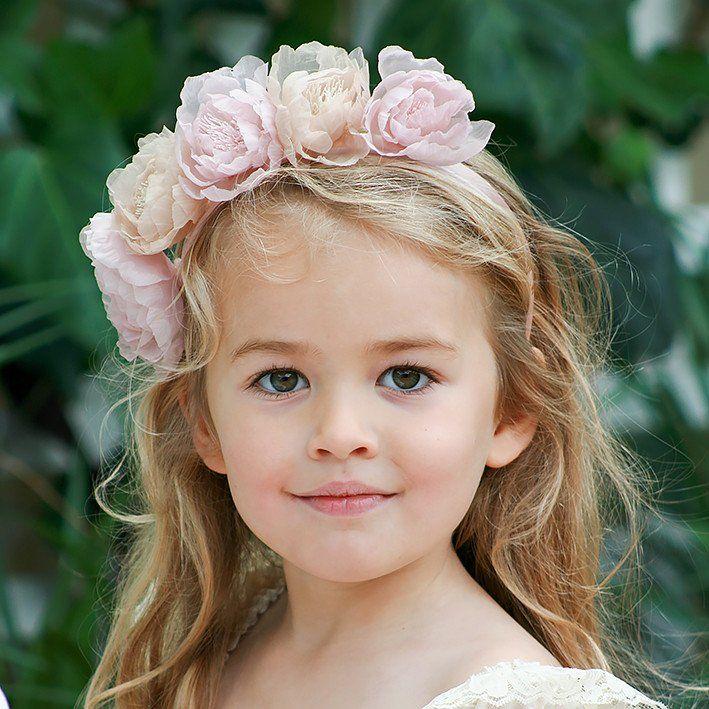 Blush & Champagne Flower Headband