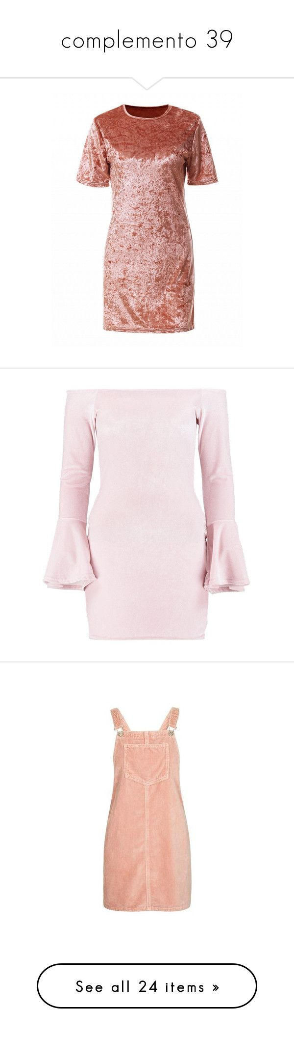"""""""complemento 39"""" by jasmimestefany ❤ liked on Polyvore featuring dresses, pink, short-sleeve dresses, metallic shift dress, short sleeve dress, velvet shift dress, pink short sleeve dress, petite cocktail dress, velvet dress and flutter sleeve dress"""