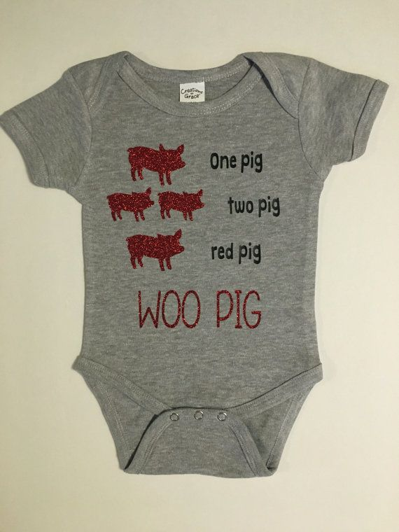 Arkansas Razorbacks One Pig Two Pig Onesie by RaisingHaleDesigns