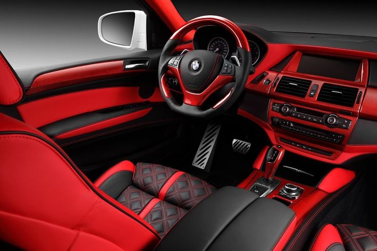 Bmw X6 Red Interior By Topcar 2 Bmw Pinterest