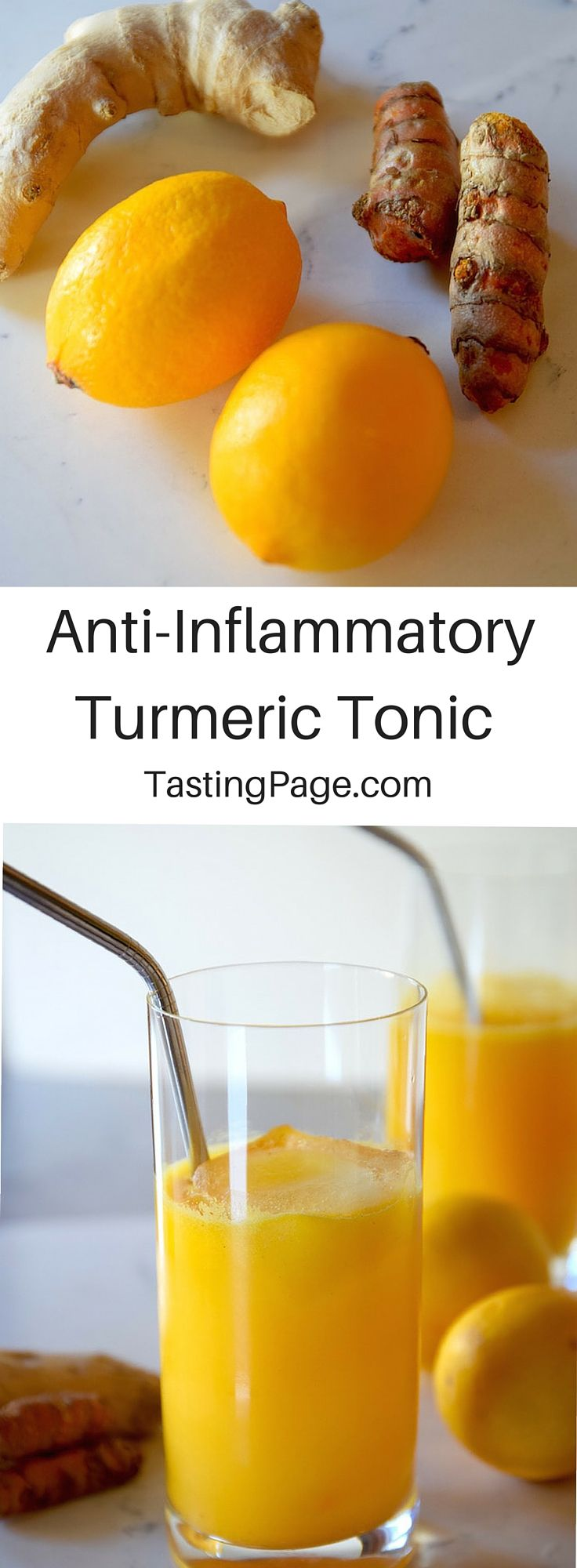 Anti-Inflammatory Turmeric Tonic - stay healthy this winter with this delicious, cancer fighting drink | TastingPage.com #turmeric #antiinflammatory #elixir