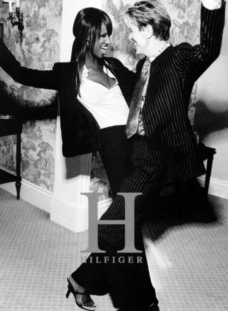 David Bowie and Iman Bowie - Ad campaign for the Tommy Hilfiger 2004 spring collection