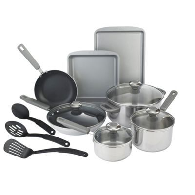 Prestige Prestige stainless steel 10 piece cookware set- at Debenhams.com