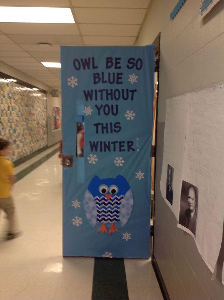Owl Door Decoration Preschool And Homeschool
