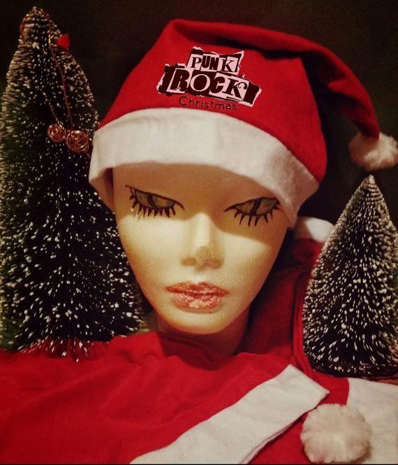 Christmas Hat Santa Claus Hat Christmas Parties December 25 Punk Rock Christmas December25 Christmasparties Chr Articulos Hechos A Mano Etsy Tienda Etsy