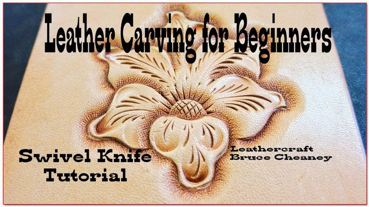 Leather carving for beginners - swivel knife tutorial - How to transfer ...