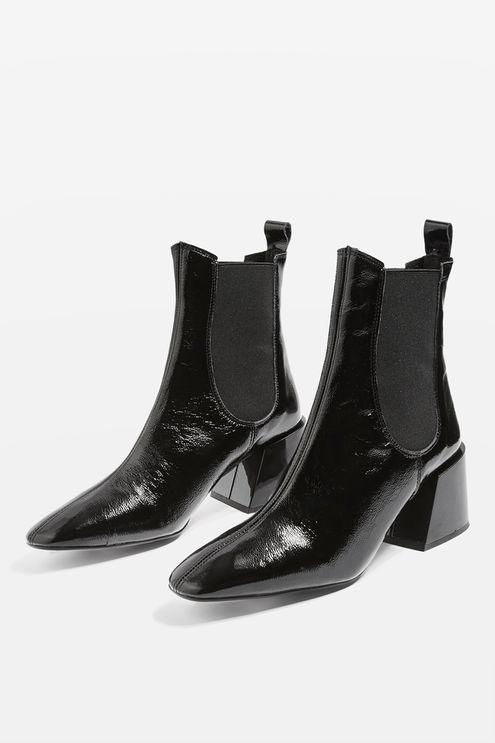 Classic black Chelsea boots.