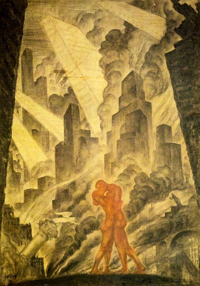 Мстислав Валерьянович Добужинский. Поцелуй. 1916 г.
