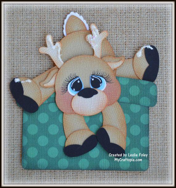 Reindeer Gift Santa Christmas Premade Scrapbooking by MyCraftopia