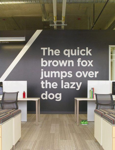 Nice bit of wall typography at Adobe's Utah office... and not a motivational motto in sight! #officedesign #cooloffice #design