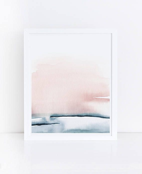 Blush Pink Print Printable Bedroom Art Watercolor Printable
