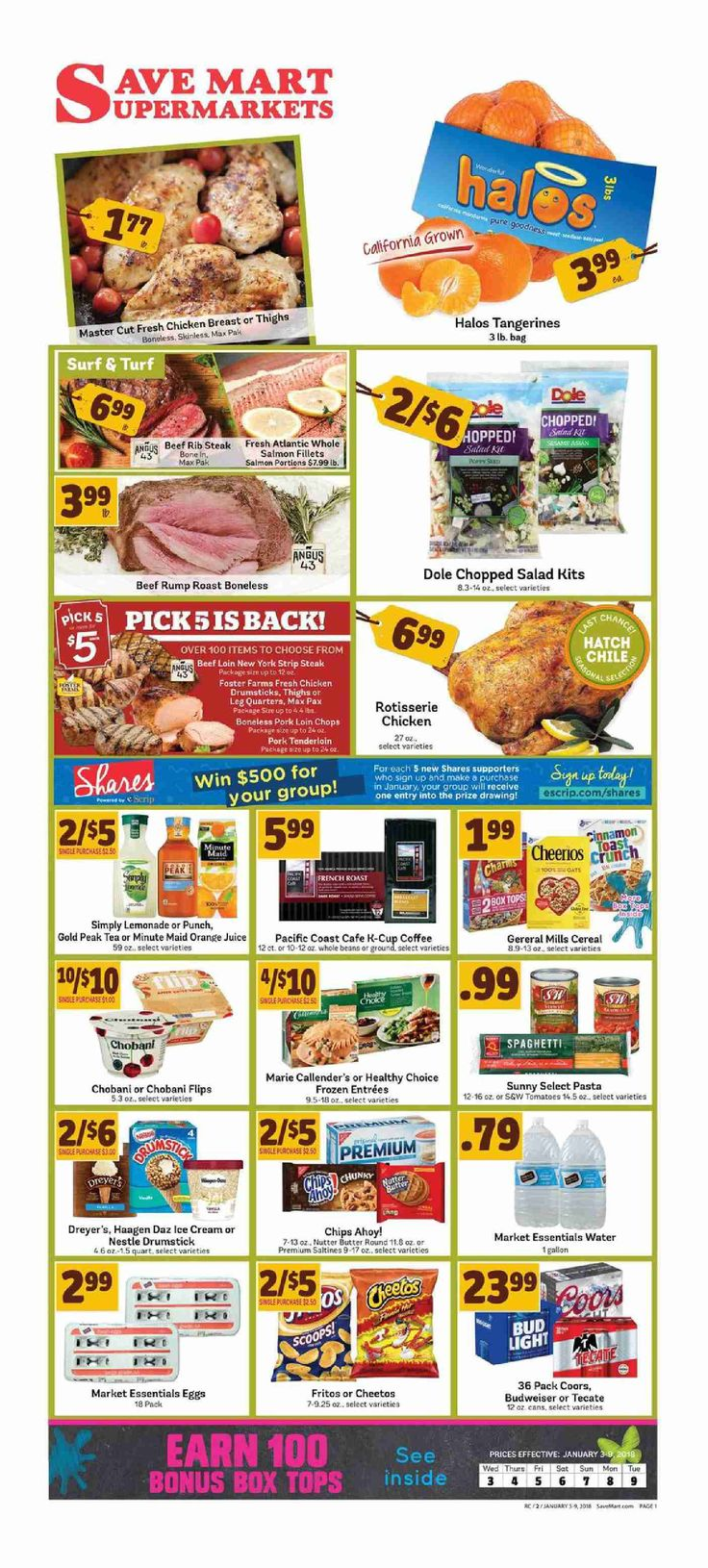 Save Mart Weekly ad January 3 - 9, 2018 - http://www.olcatalog.com/save-mart/save-mart-weekly-ad.html