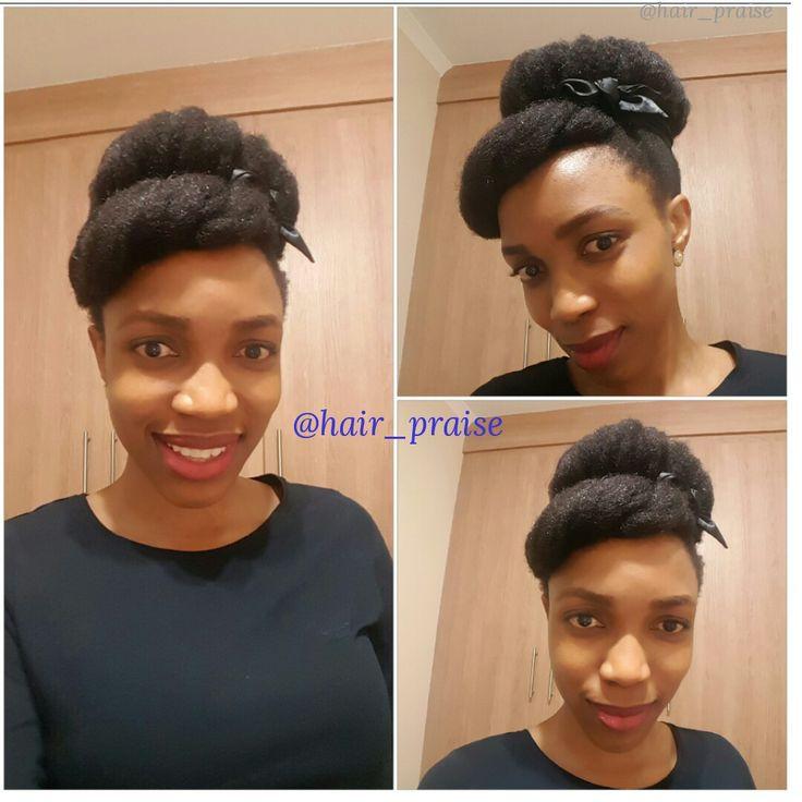 Faux afro bun    #naturalhair#naturalhaircare#naturalhairmaintenance#teamnatural#locmethod#kinks#curls#coils#naturalhairsa#naturalista#nubianqueen#4chair#protectivestyles#naturalhairstyles