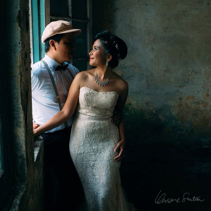 """Prewedding Poses, Prewedding Ideas ---  """"For it was not into my ear you whispered, but into my heart. It was not my lips you kissed, but my soul. - Judy Garland . . Photographed by the most talented person I have ever known, Mr. Unggul Santosa: IG @petrichor218 . . Assistant photographer Meizar Nasution: IG @meizar_n . . Gown by: IG @belsbee"""