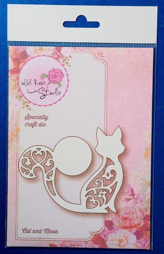 Wild Rose Studio 'Cat and Moon' Speciality Die | Craft-House