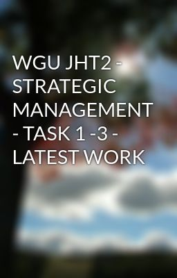 WGU MGT2 IT Project Management Task 1 – 3