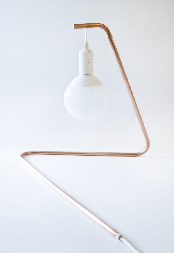 diagonal mini table lamp