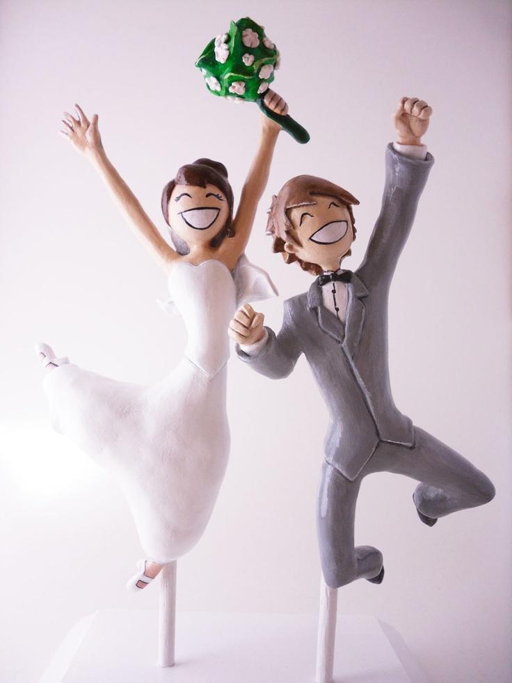 Custom Sculpted Handmade Wedding Cake Topper Art Doll Bust. $340.00, via Etsy.