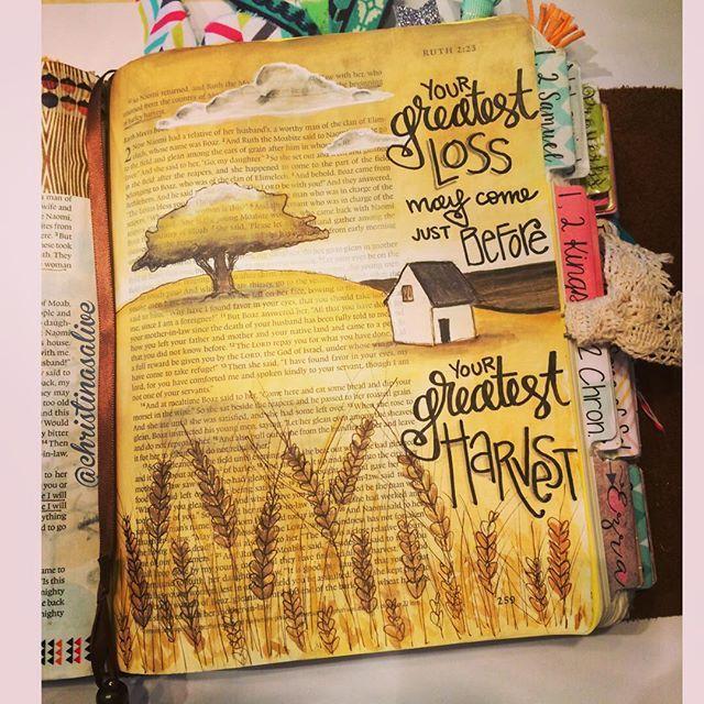 Bible Journaling by Christina Lowery @christinasalive | Ruth 1