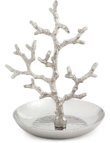 A gorgeous motif, coral designed by Michael Aram extends from a hammered bowl to display and contain jewellery in an elegant fashion.