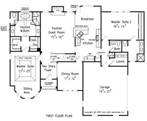 8 best floor plans images on pinterest house floor plans for Dual master bedroom floor plans