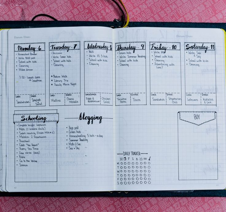Bullet Journal layout ideas  These are great