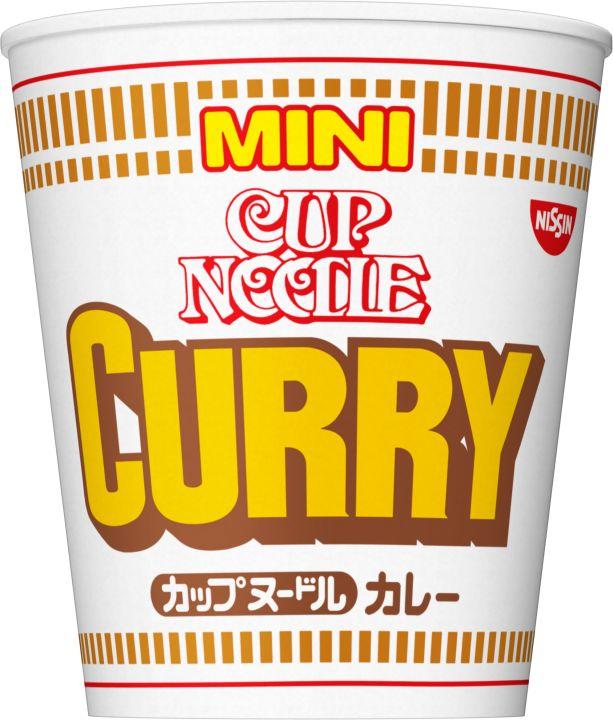 マイルドでとろみのあるカレースープ  カップヌードルカレーのミニサイズ。カレーが絡むコシのある太めんに、野菜の甘味のあるマイルドでとろみのあるカレースープ。具材にはホクホクのポテト、肉、にんじん、ねぎが入ってます。