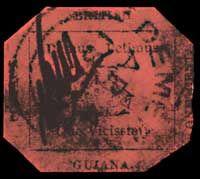 British Guiana 1c magenta