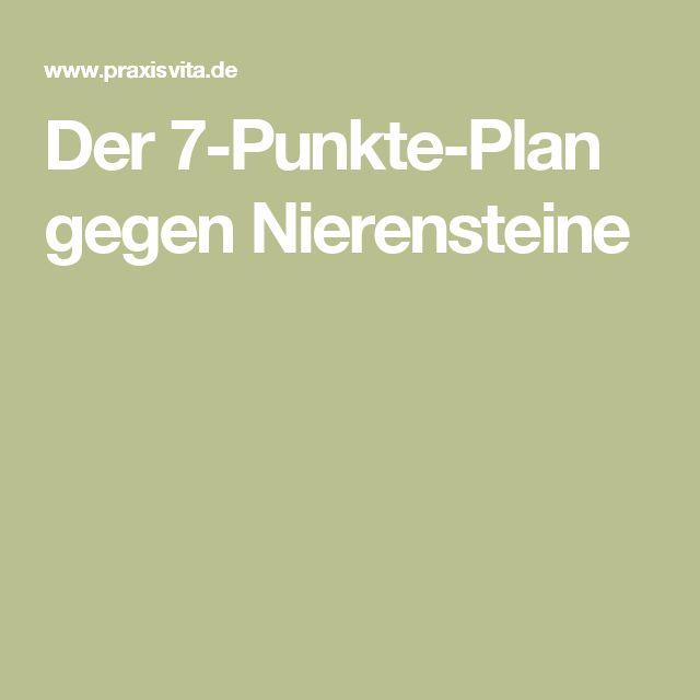 Der 7-Punkte-Plan gegen Nierensteine