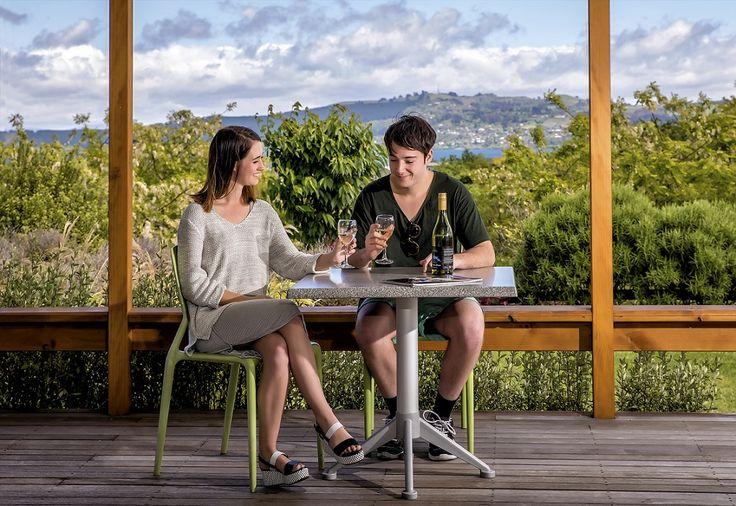 Views from the Lake View Villas at Taupo DeBretts Spa Resort, New Zealand.