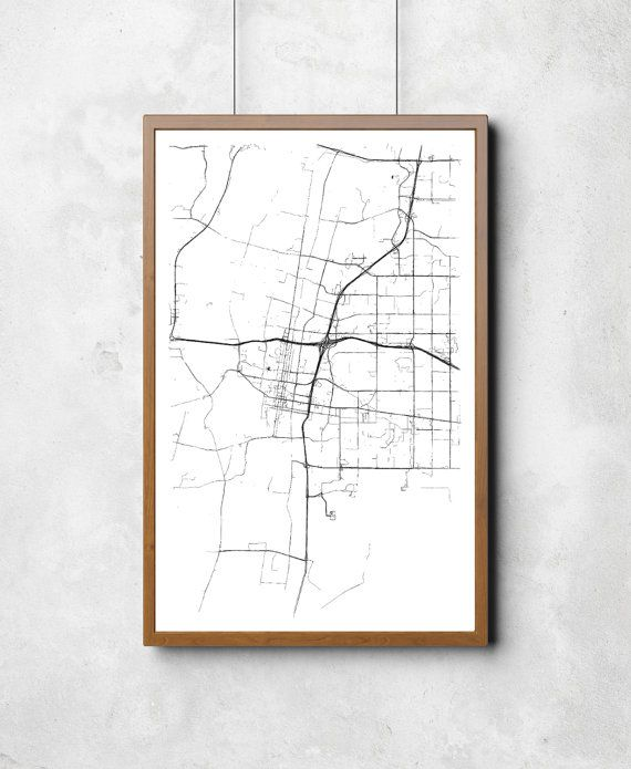 Map of Albuquerque  Albuquerque  by CoastHeavyIndustries on Etsy