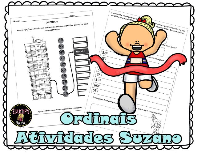 Ordinais - Atividades Adriana