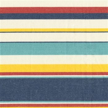 Seaside Stripe Nautical. Heavy duty 100%cotton futon cover. Traditional nautical colors are brought to life with a touch of sea galss.