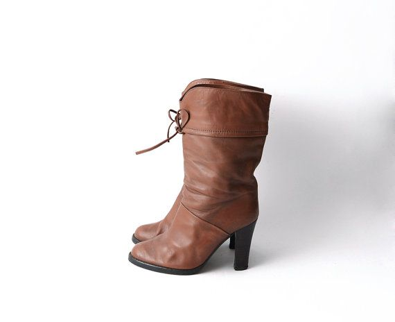 #Vintage leather heeled pirate #boots by #ZvezdanaVintage on Etsy, $54.00