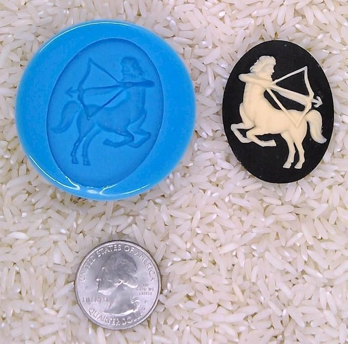 Astrology Zodiac Sign Sagittarius man horse Food Safe Silicone Cameo Mold for candy soap clay resin wax etc.