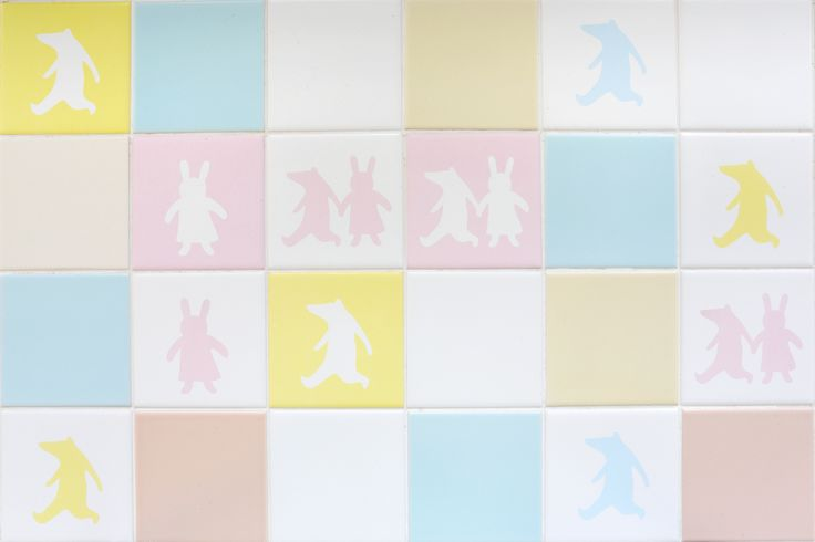 RABBIT AND CROCODILE designed by Kyoko Dufaux  Colour tile Ceramica Senio _ Synthesis collection www.seniocer.it