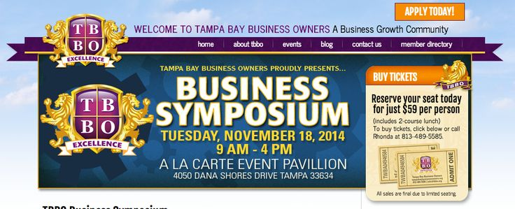 Tampa Bay Business Owners - Business Symposium