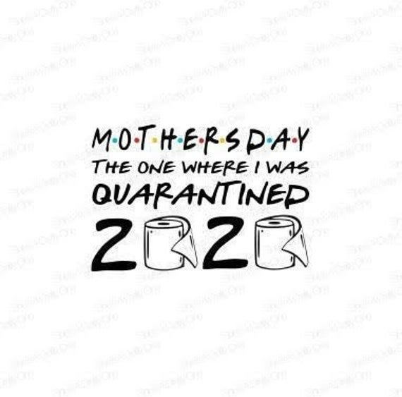 Free Hand written lettering for celebrate mother's day. Mother S Day The One I Was Quarantined 2020 Svg Png Jpg First Mothers Day Mothers Day Quotes Mothers Day SVG, PNG, EPS, DXF File