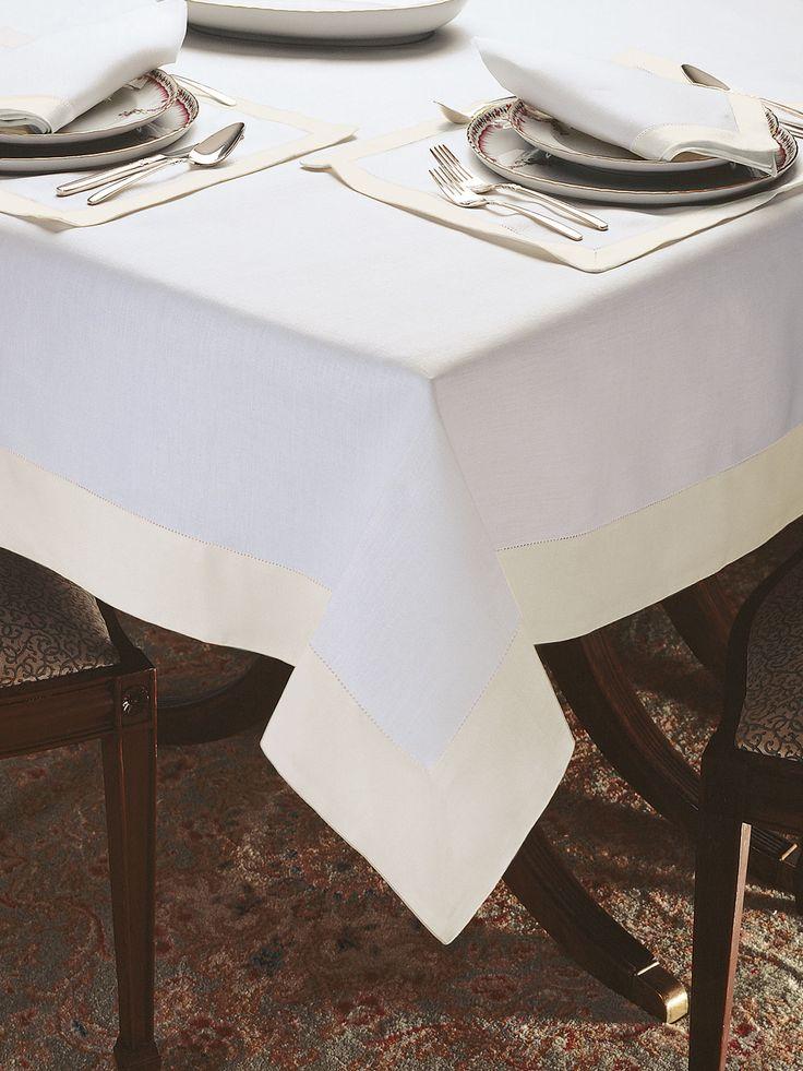 Castile Table Cloth  Elegant DiningWhite LinensTable LinensTablecloths EntertainingIvoryMasters59 best Fine Table Linens images on Pinterest   Table linens  . Dining Room Linen Tablecloths. Home Design Ideas