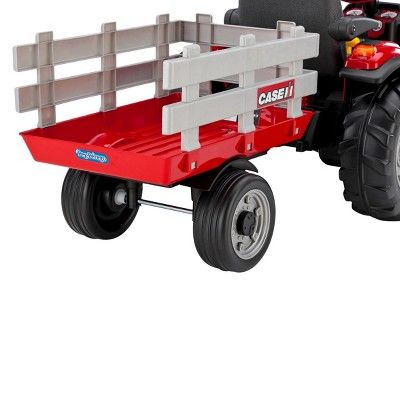 Peg Perego 12 Volt Case IH Magnum Tractor with Trailer - Red