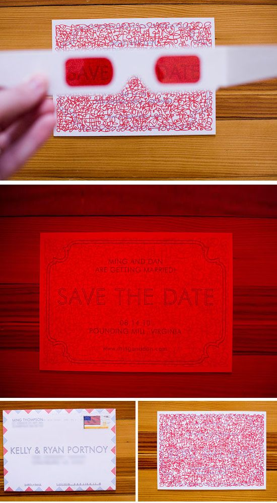 3D Save The Date | Easy to Make Wedding Invitation Ideas